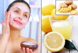 Lemon and potato mask