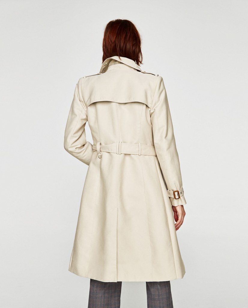 Back of the trench coat